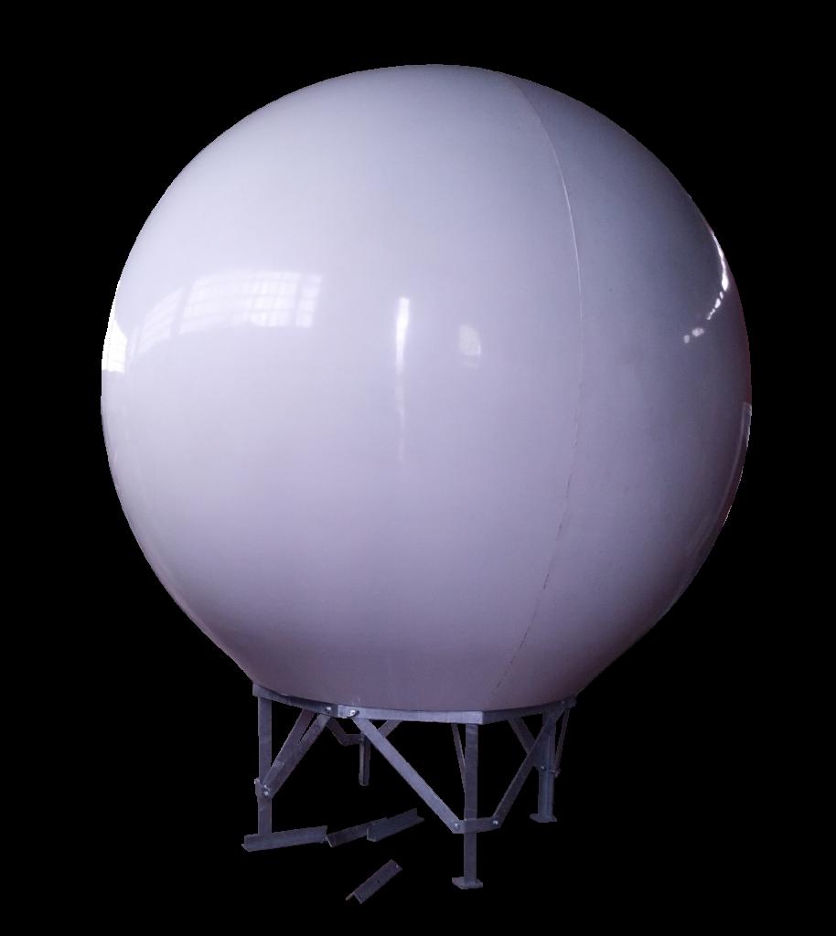Radome 240cm diameter for tvro and vsat antennas with 200cm dish, sandwich fiberglass